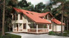 Проект деревянного дома Аттика № 128-269. Общая площадь 268.8 м2; полезная площадь 245.3 м2
